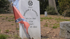 Civil war Graves in Hollywood cemetery #2 Stock Footage