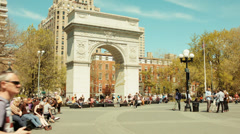 Washington Square Park Greenwich village NYC Stock Footage