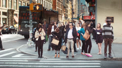 NYC street time lapse soho fashion week Stock Footage