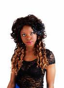 pretty jamaican girl. - stock photo