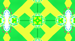 Electric green and yellow motion mosaic, loop HD Stock Footage