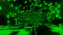 Data Binary Tunnel Green Seamless Loop Stock Footage