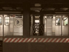 Stylized Vintage Subway in New York City Stock Video Stock Footage