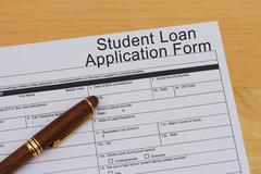 Student loan application form Stock Photos