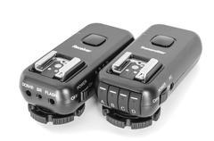 wireless multichannel radio trigger set - stock photo