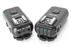 studio flash lights remote multichannel radio control - stock photo