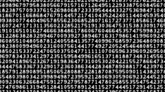 Matrix with moving decimal code numbers 11-3 Stock Footage