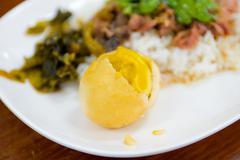 pork leg with rice (kao ka moo) - stock photo