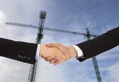 Construction deal Stock Photos