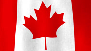 Stock Video Footage of Canadian flag