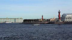 Vasilevsky Island. St. Petersburg. Russia - stock footage