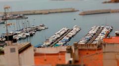 Boat Port- Tilt Shift (miniature effect) Stock Footage
