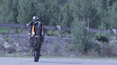Distance shot motorcycle Stock Footage