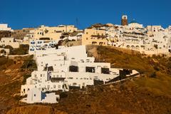 Thira sunset, santorini, greek islands Stock Photos