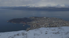 Norway-Scandinavia-City-Narvik-Port-Location-2 - stock footage