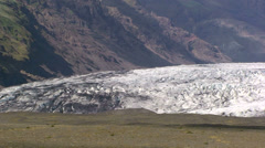 Lower part (terminus) of a glacier Stock Footage