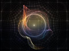 Evolving Particle Grid - stock illustration