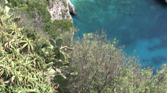 Italy - Coast of Capri an island in the Gulf of Naples Stock Footage