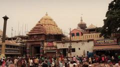 In front of the Jagannath temple in Jagannath Puri, Orissa/Odisha India Stock Footage