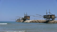 Italy - Trabocco Stock Footage