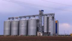 Silos tank storage for  food Stock Footage