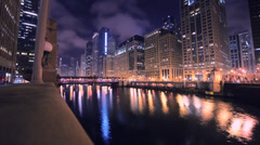 Downtown Chicago Timelapse Stock Footage