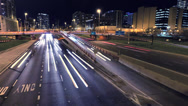 Stock Video Footage of Chicago Highway at Night