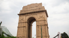 India Gate in Delhi Stock Footage