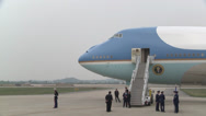 Stock Video Footage of President Obama Departs from Osan Air Base