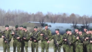 Stock Video Footage of 173rd Airborne Brigade arrive in Estonia