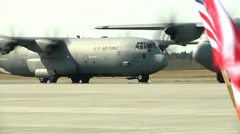 173rd Airborne Brigade arrive in Estonia - stock footage