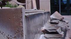 Fountain waterfall 2d Stock Footage