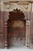 Mihrab in qutub minar complex in delhi,famous islamic monument,india Stock Photos