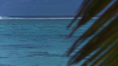 Tropical island scene Stock Footage