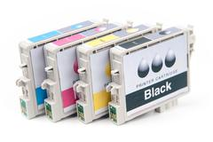 Cartridges for colour inkjet printer - stock photo