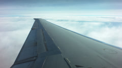 Aerial boeing md 80 wing Stock Footage