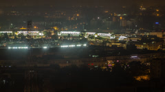 Pan of New Delhi Connaught Place Shopping Stock Footage