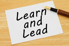 Learn and lead Stock Photos