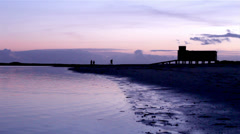 Algarve - Ria Formosa - Fuseta Sunset 007 Stock Footage
