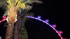 High Roller (Ferris wheel) at night. Las Vegas, Nevada, USA. Stock Footage