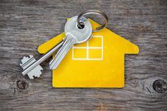 keys and  house symbol - stock photo