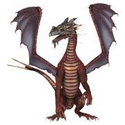 red dragon - stock illustration