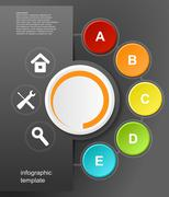 Stock Illustration of vector infographic design on the black background