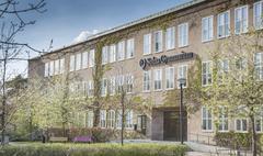 Exterior solna gymnasium highschool sweden Stock Photos