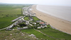 Brean beach Somerset England near Weston-super-mare and Burnham on Sea Stock Footage