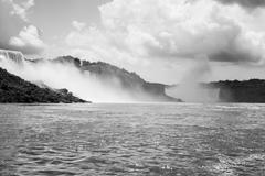 Niagara Falls in Black and White Stock Photos
