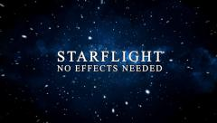 Stock After Effects of Star flight, Star field, Universe, Travel, Journey