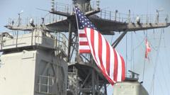 USS Ashland (LSD 48) Returns to Sasebo - stock footage