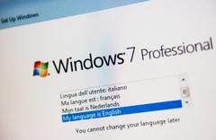 windows instalation process - stock photo