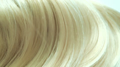 Blond highlight hair texture abstract background Stock Footage